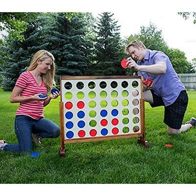 Floor Games Giant 4 Connect In Row Wooden Board Playing Fun
