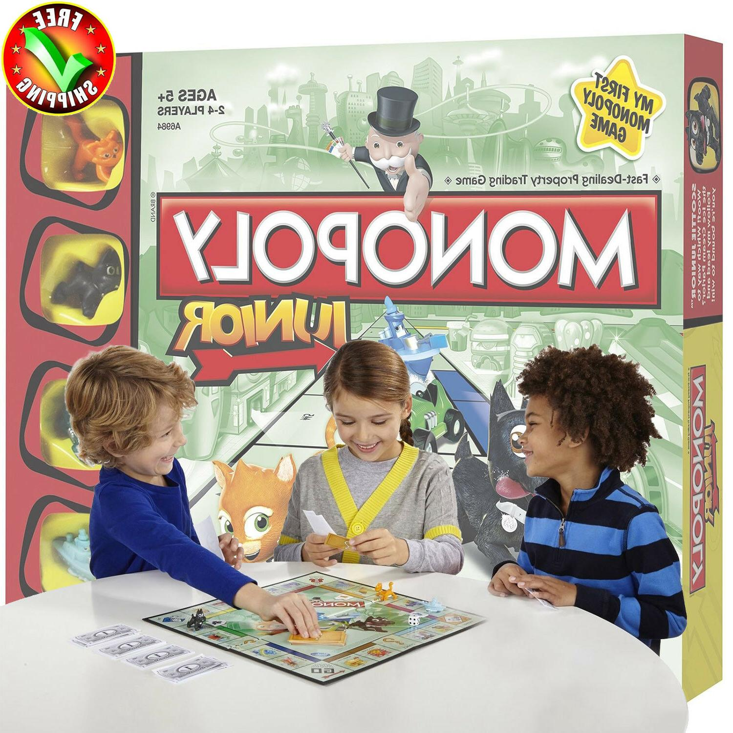 Monopoly Junior Board Game,Kids Game For Children Playing Fa