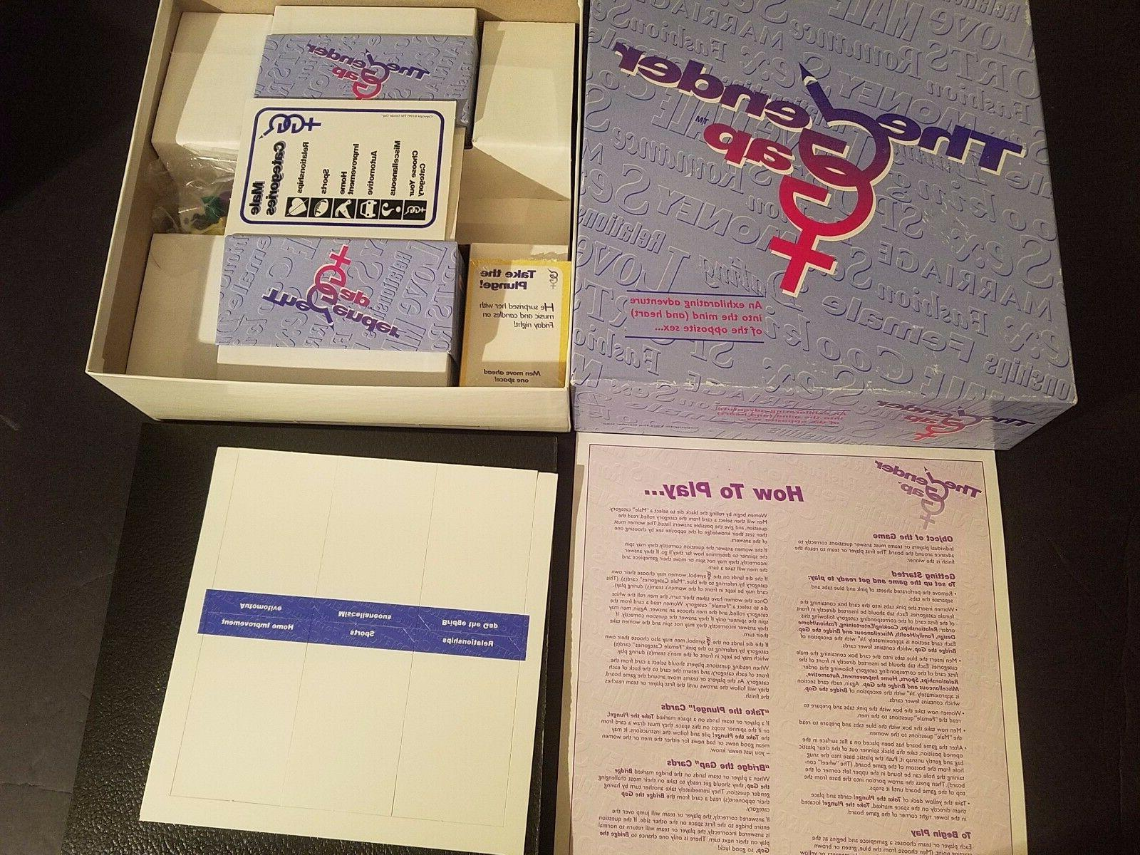 NEW The Gender Gap Board Game 1995 How Well Do You Know the