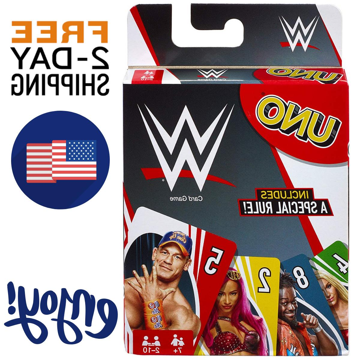 New UNO WWE Card Game Family Board Games Fun Playing Party Friends
