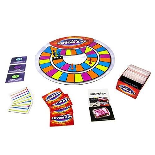 Spin of TV and Board Your Knowledge of TV Shows and Movies - - Includes Over 400 Cards Family Friendly Entertainment