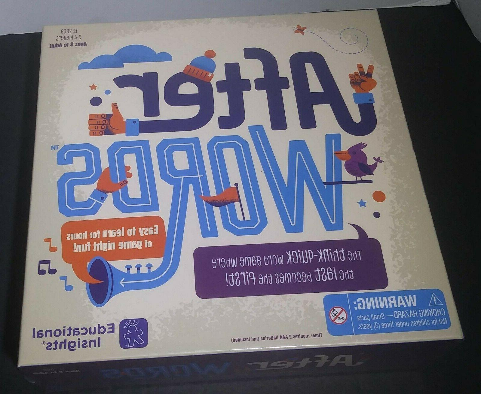 Educational Insights After Board Game Word Ages &