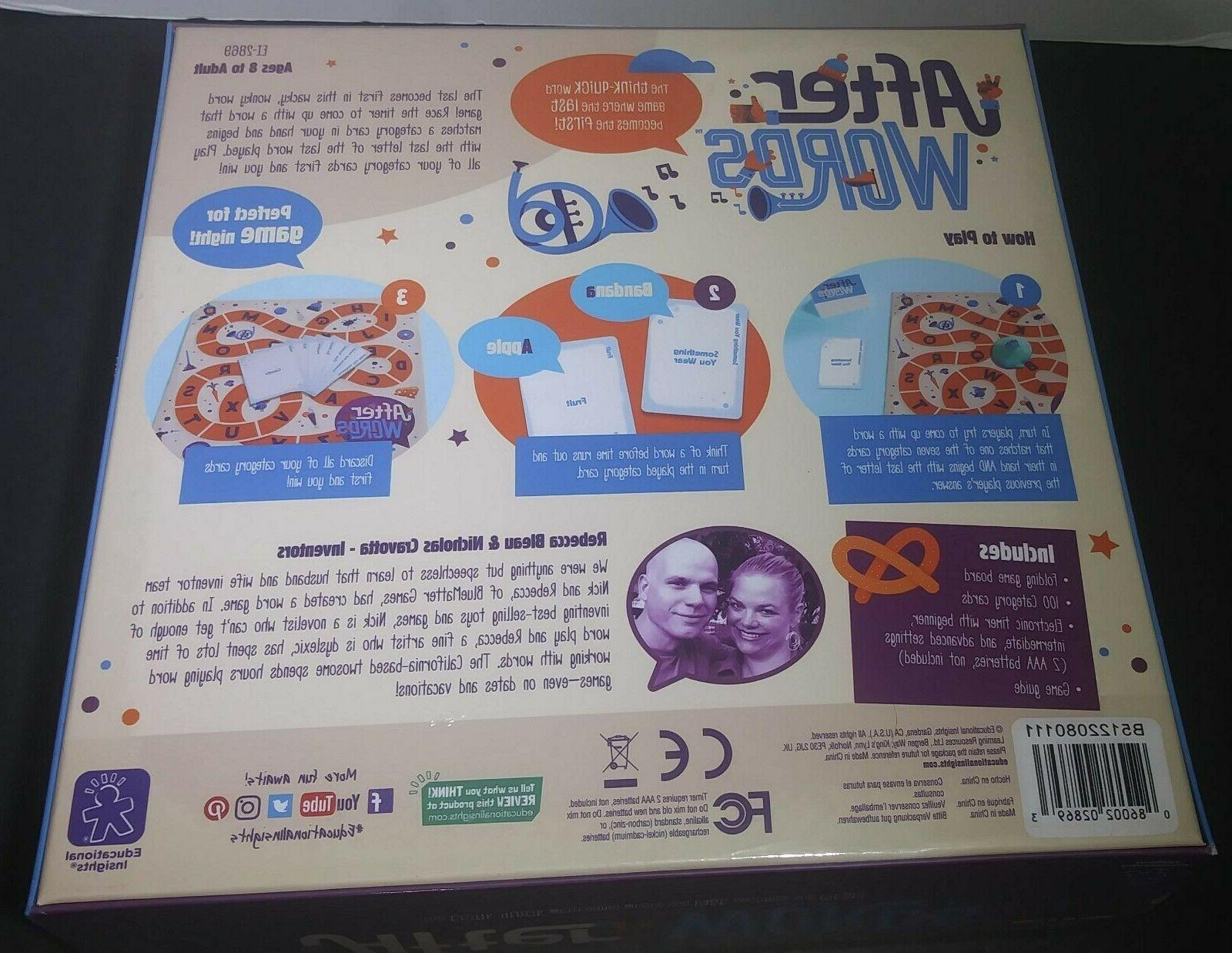 Educational Board Game Think Word Game Ages & Up