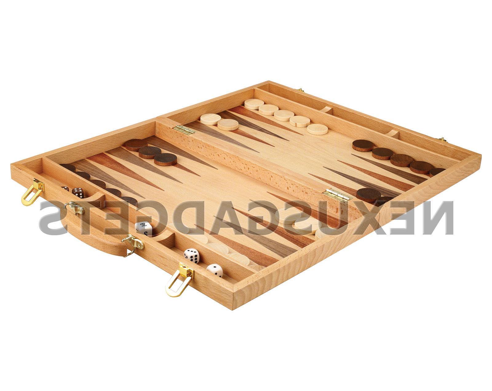 Alamo Backgammon Extra Large Suitcase in Light Wood