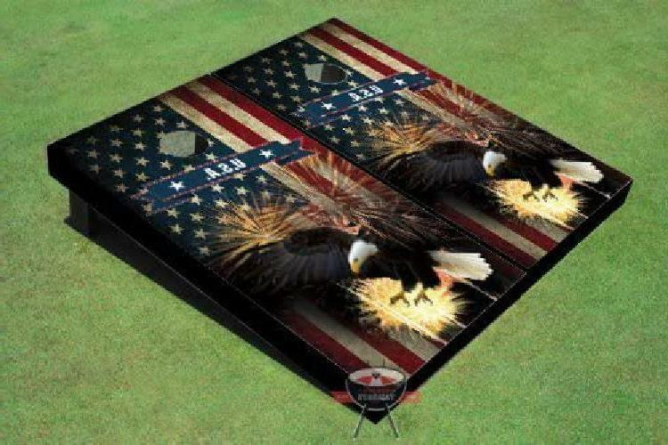 American Bald Eagle Theme Corn Hole Boards Cornhole Game Set