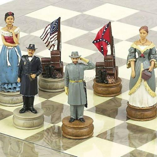 american civil war chessmen extra large chessmen