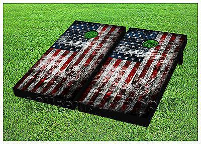 american flag usa cornhole beanbag toss game