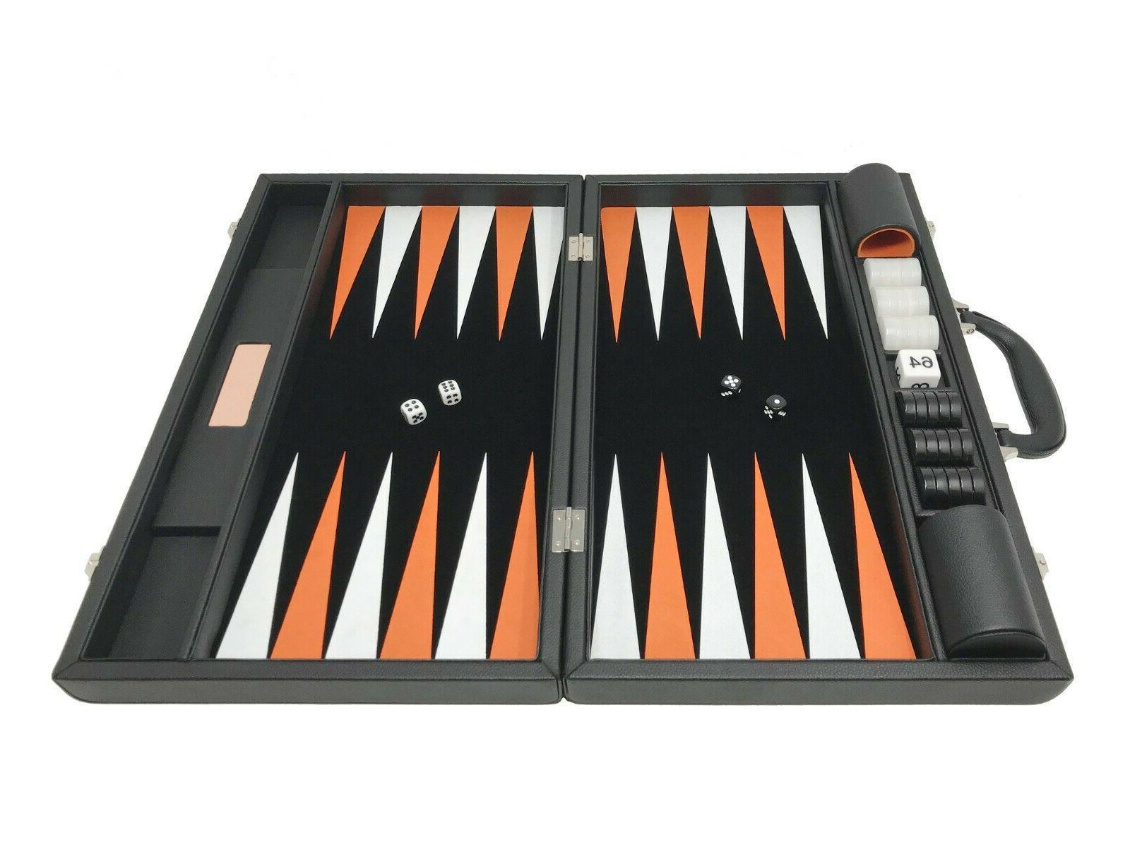 "Backgammon Large 18"" Classic Board Jet Black"