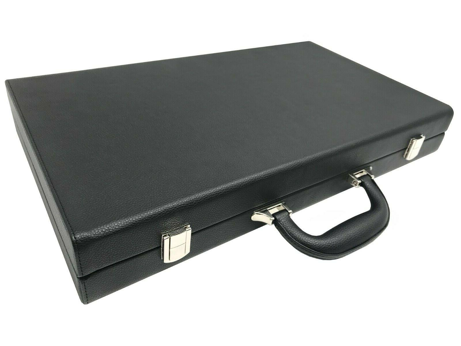 Backgammon Set-Premium Classic Board Jet Black