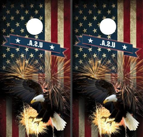 American Bald Eagle Corn Boards Cornhole Game