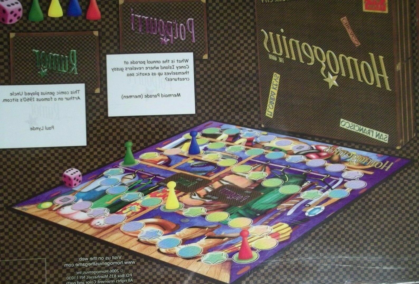 Homogenius Board Game Homosexual LGBTQ Board Game Adult 18+ New