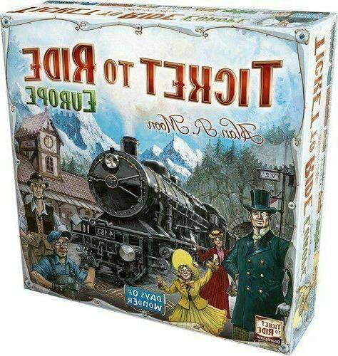 Brand New Ticket To Ride Europe - Days of Wonder Strategy Bo