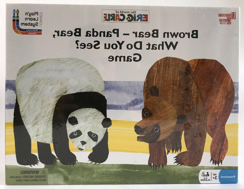brown bear panda bear what do you