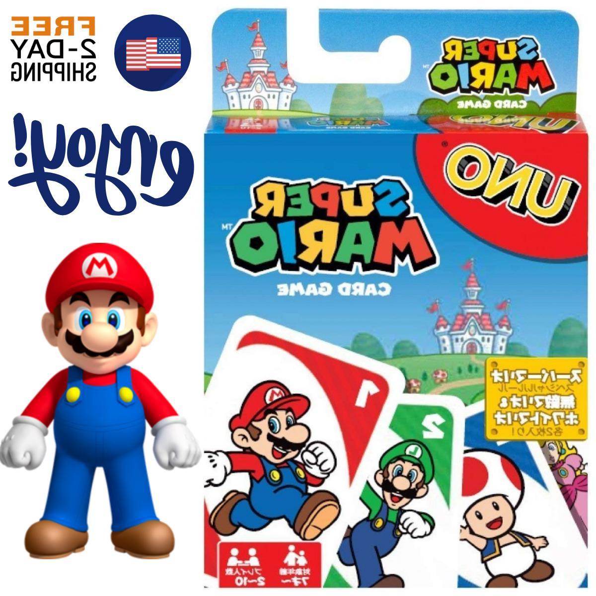 NEW UNO Classic Super Mario  Fun Card Game Incl. Special Mar