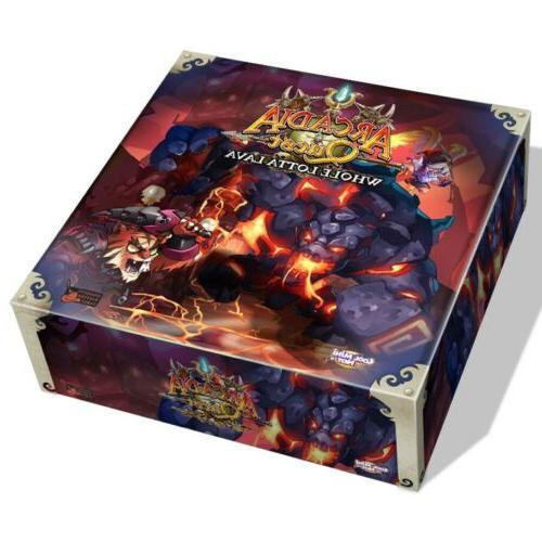 cmon arcadia quest whole lotta lava board game