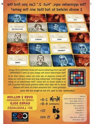 Codenames Board GameParty - Cards - Book - Card