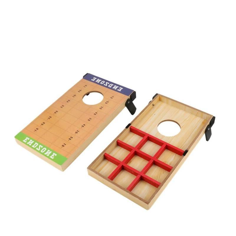 Cornhole Bean Game Outdoor Fun Games 2 8 Bags w/Carry