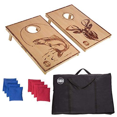 cornhole board game set