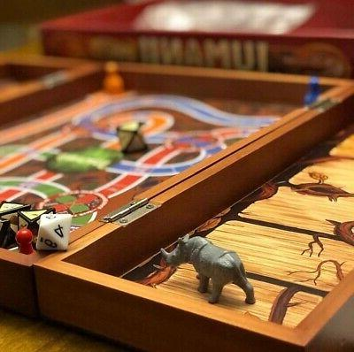 Deluxe Board Game Real Wooden Box Puzzle Family Party
