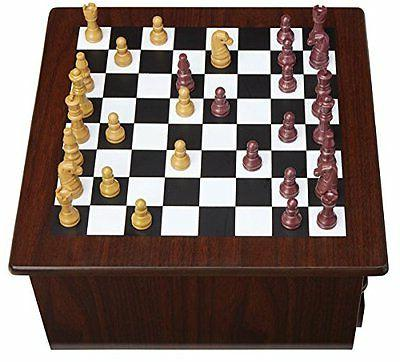 Deluxe Wooden Backgammon 15 in 1 Game Mahogany