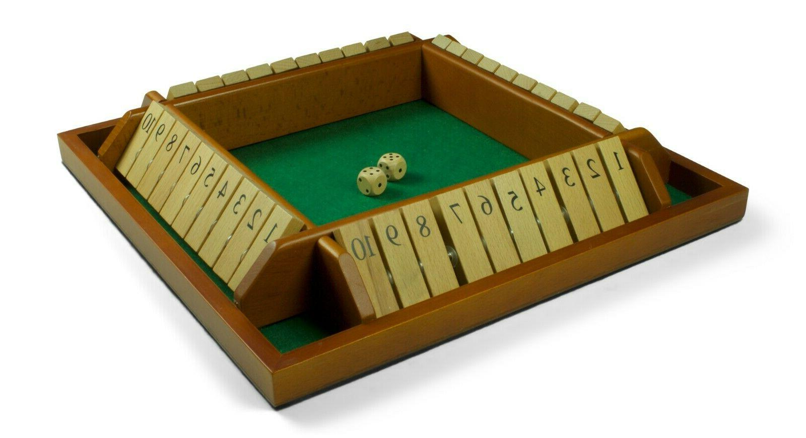 Endgamz Wooden Shut The Box 4 Math NEW