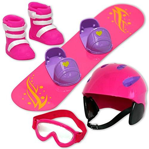 doll snowboard set perfect
