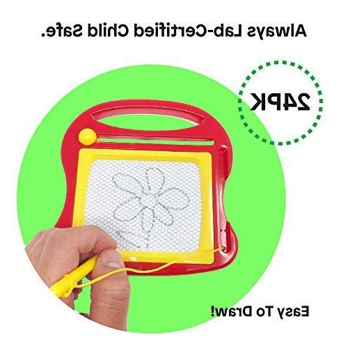 Boley Magnetic Drawing Pen – Educational Writing Pad Perfect for Classroom Supplies, Favors,