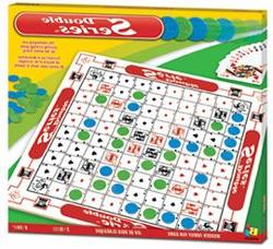 Double Series  Strategic Board Game. Large Wooden Board Made