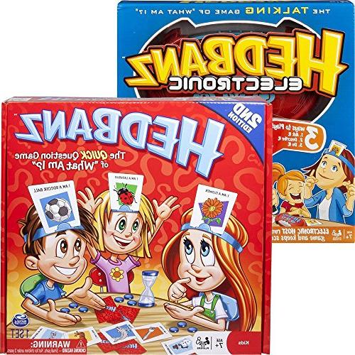 family guessing headbands board games bundle kids families