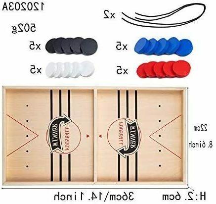Fast Sling Puck Wooden Game Toys