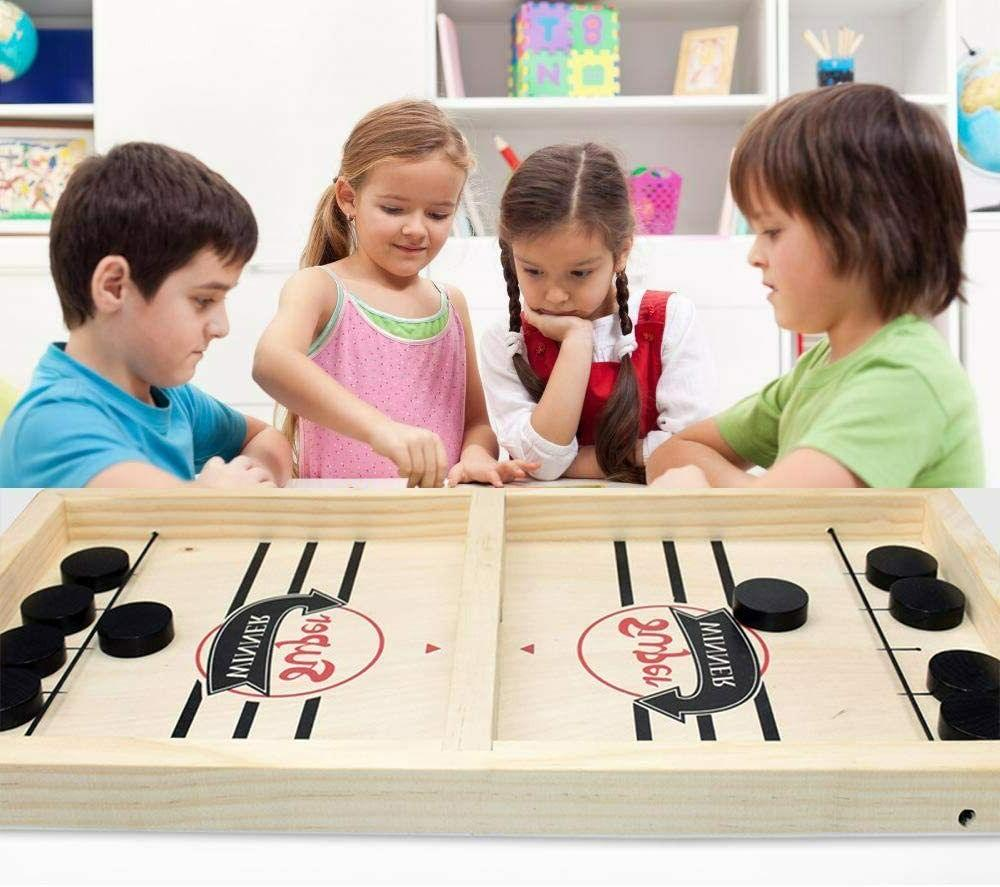 Fast Wooden Board Table Hockey Game Party Children Toys
