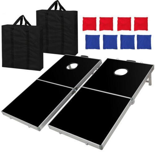 Foldable Bean Cornhole Set Boards Regulation 4 2FT EZ