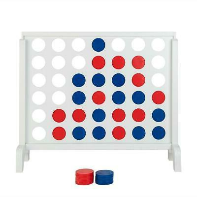 Giant Connect 4 In A Row Backyard Game Toys Gift Kids Adults