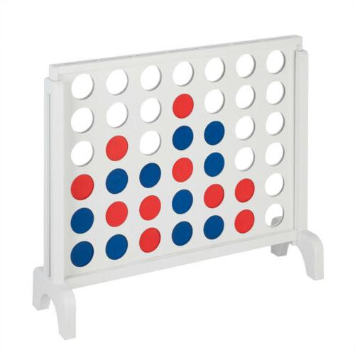 Giant Connect 4 A Row Backyard Toys Kids Wooden Board Family