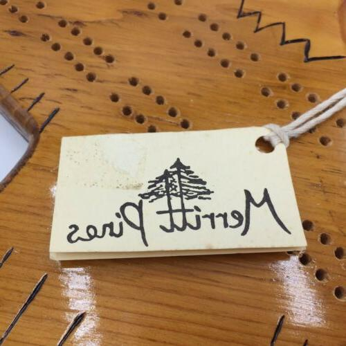 Handmade Shaped Cribbage Board Merritt Bird 14.5
