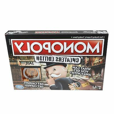 hasbro monopoly game cheaters edition board game