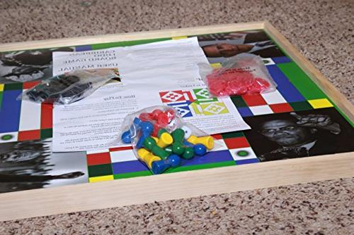 Jamaican Checkers | 2ft x Double Game Board + Game & Dice Night