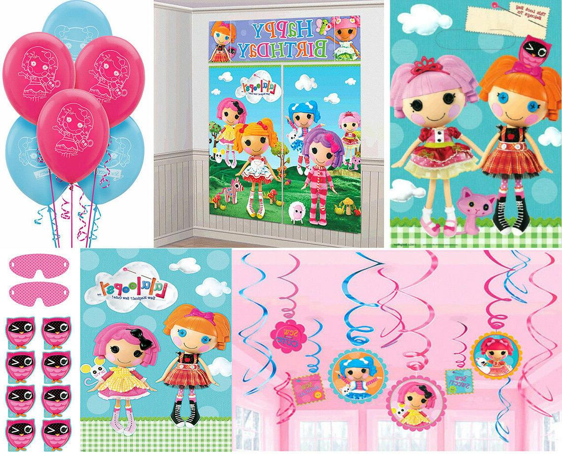 Lalaloopsy Birthday Party Supplies~Scene Setters,Swirls,Part