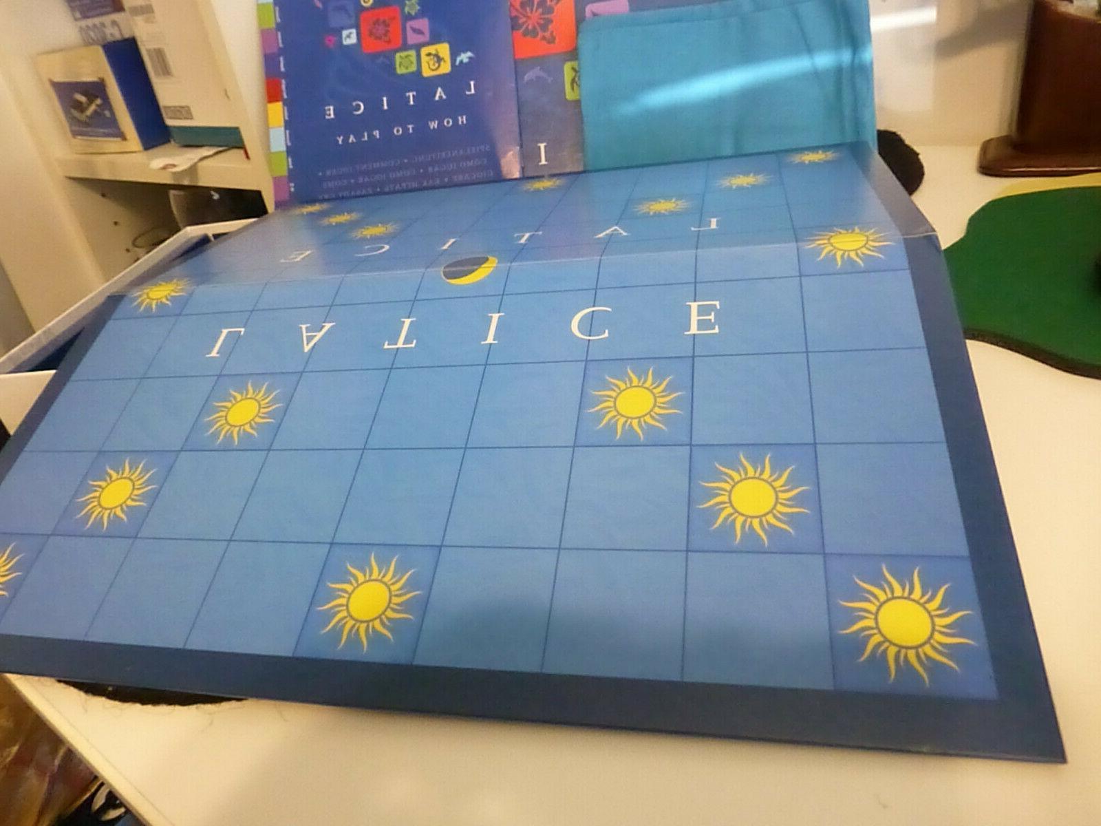 Latice Game Deluxe Edition Strategy Adacio Rare NEVER