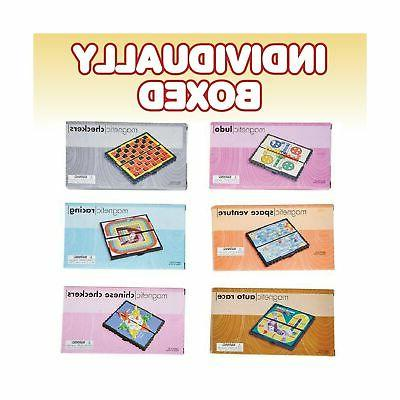 """Gamie Magnetic Board Game Set Fun Games - 5"""" Compact"""