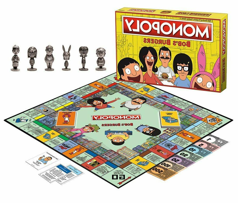 Monopoly Bobs Board Game Themed Burgers Game