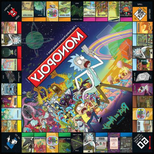 Monopoly: Rick And Morty Board Party Game New