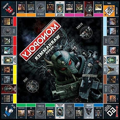 Monopoly Warhammer 40,000 Board Game | Warhammer from Workshop | Themed Classic Monopoly