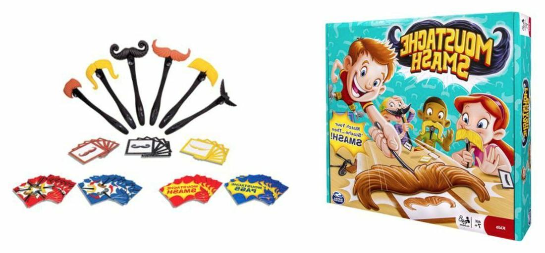 Spin Master Games - Moustache Smash Board Game. New Factory