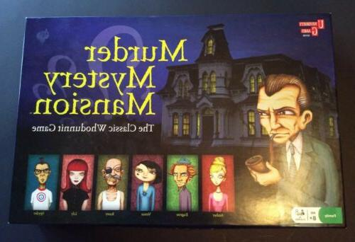 murder mystery mansion board game 2008 complete