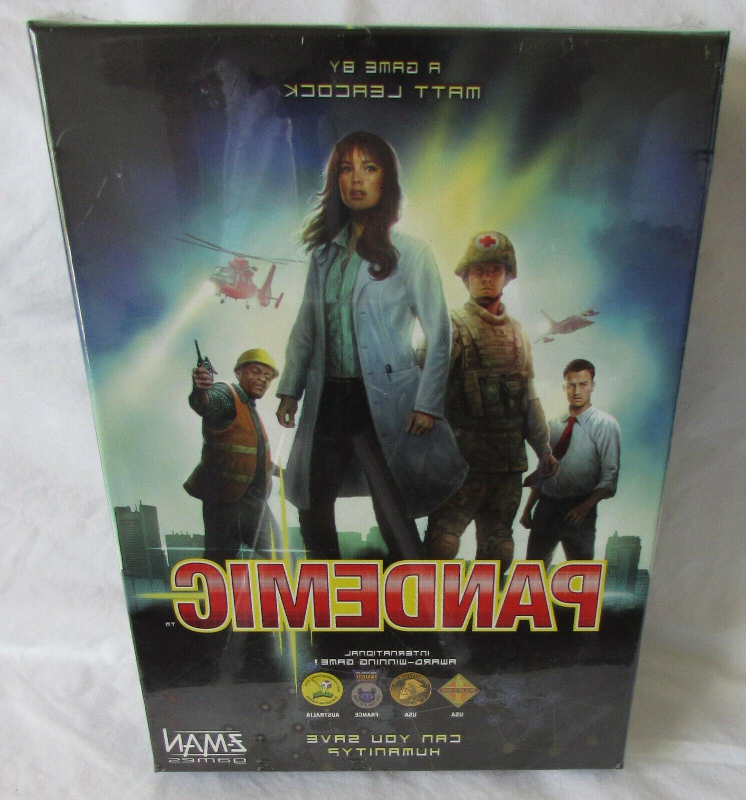 new sealed pandemic board game cooperative award