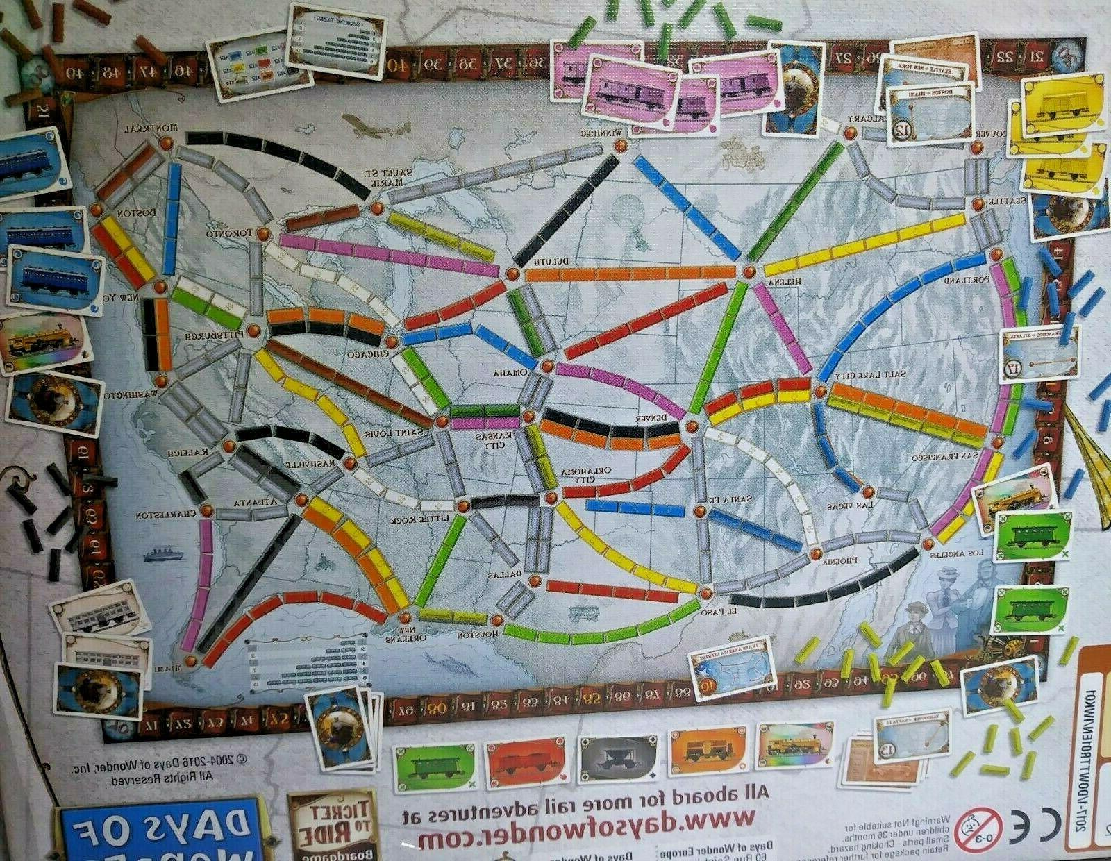 New Ticket to Ride Game Cross-Country Train Adventure