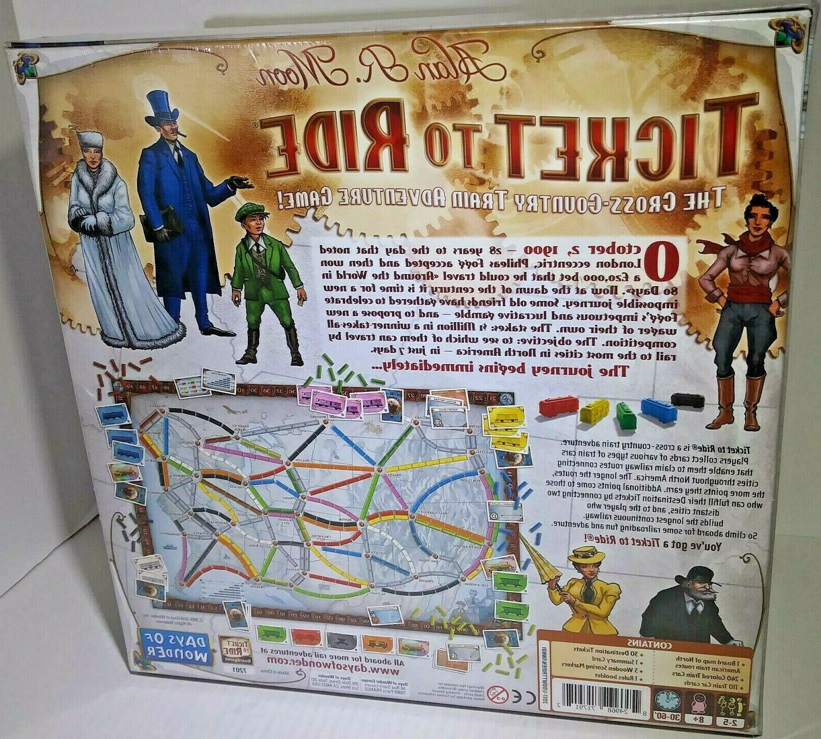 New Days of Ticket to Ride Game Cross-Country Adventure