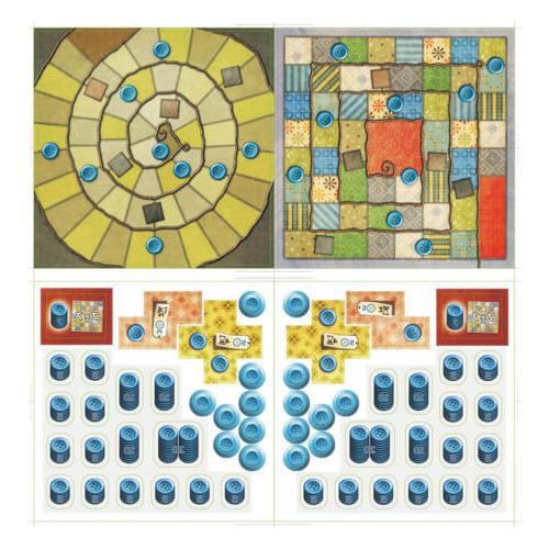 Patchwork Board Game For Two Players Cards English USA