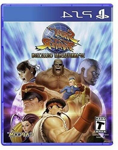 PLAYSTATION 4 PS4 GAME STREET FIGHTER 30TH ANNIVERSARY COLLE
